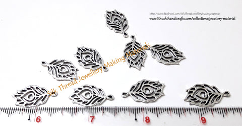 Peacock Feather Charms.Sold as 10 pieces  -SP44