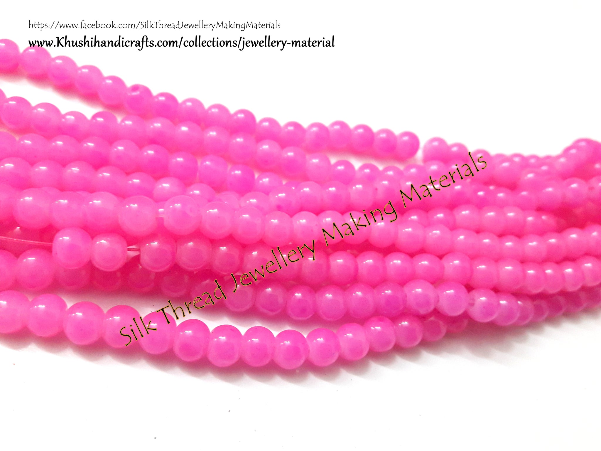 Glass beads 5 mm - Light Pink