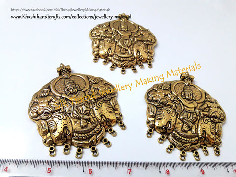 Krishna Oxidized Pendant in Antique Gold .Sold per piece!P017