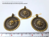 Antique Gold Durga Pendant