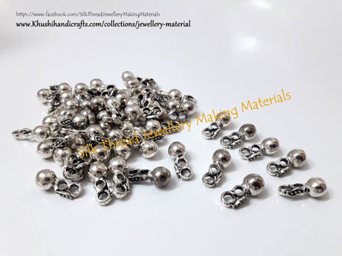 Kolhapuri beads Antique Silver Pattern 10.Sold Per piece!
