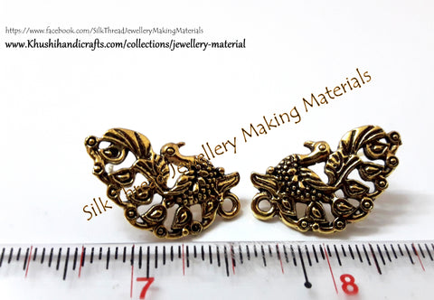Antique Gold Peacock Stud pattern 8 -ST20