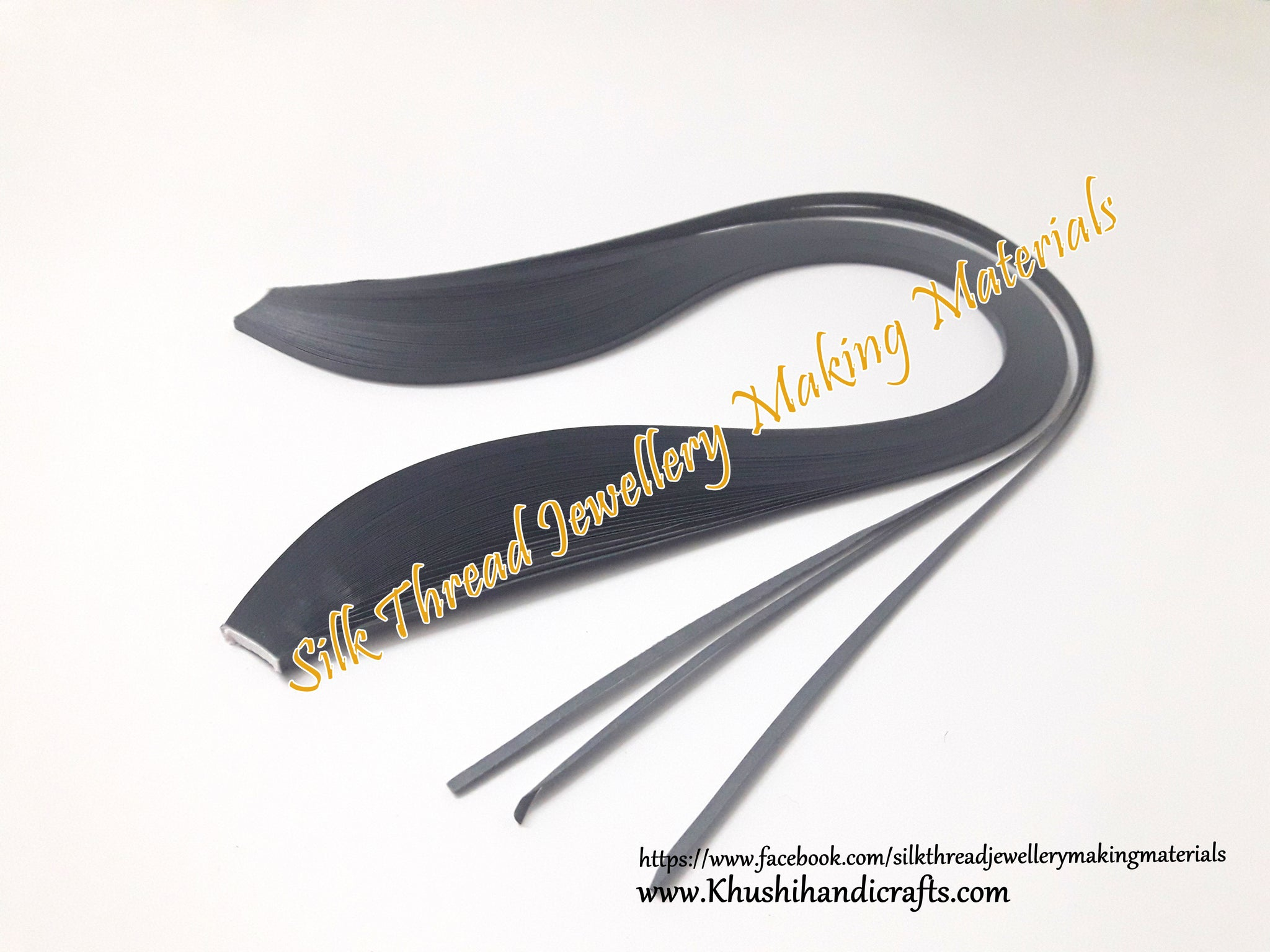 Grey Quilling Strips - 3mm