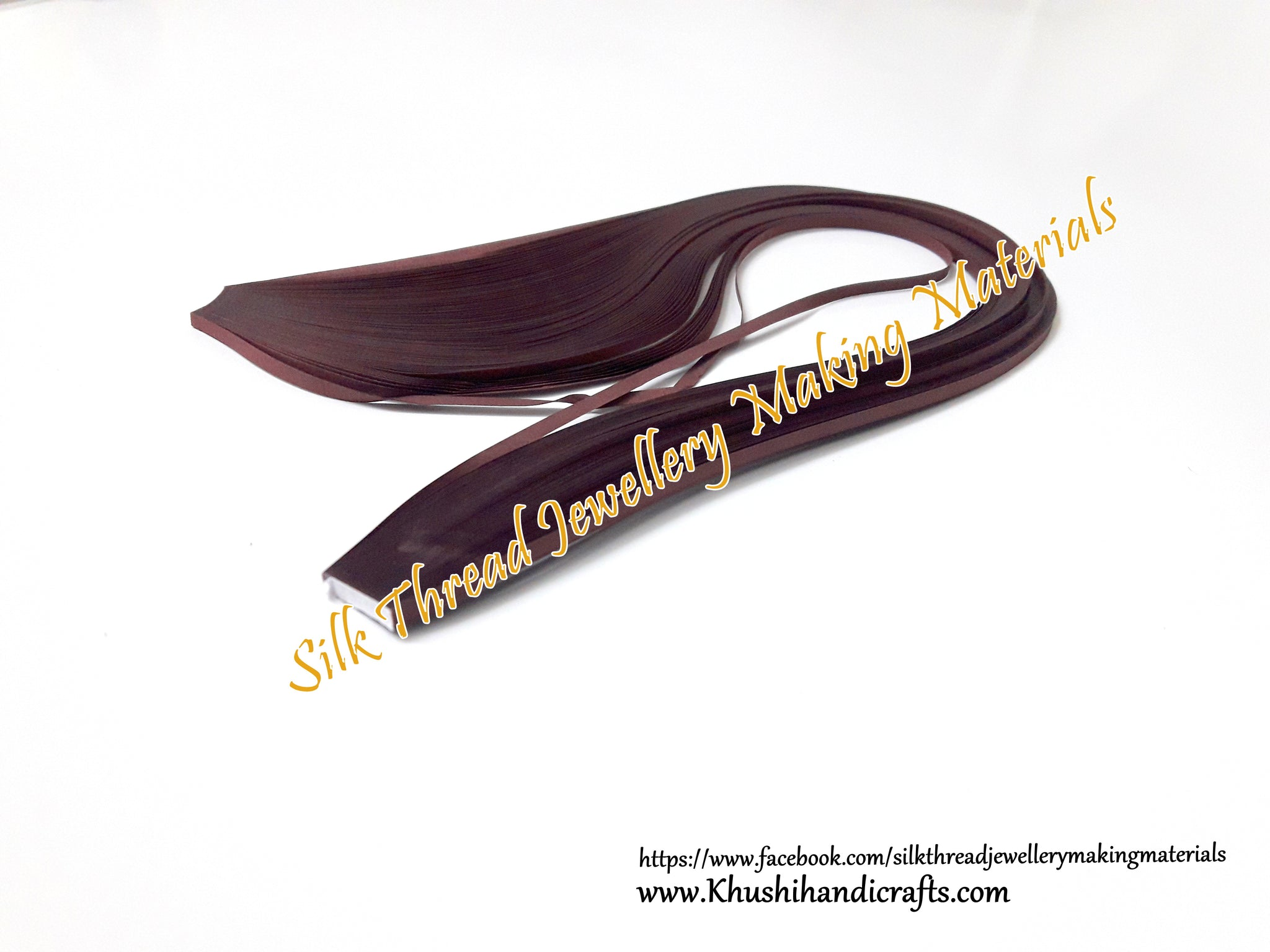 Maroon 3mm Quilling Strips