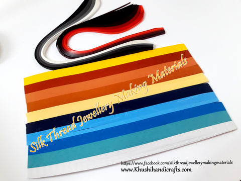 Multi color Quilling strips 5 mm Combo 4
