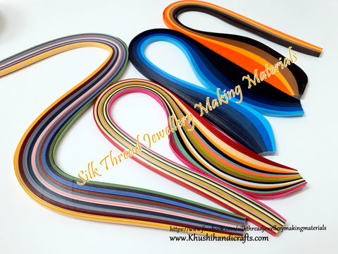 Multi color Quilling strips 5 mm Combo 5
