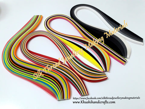 Multi color Quilling strips 5 mm Combo 6