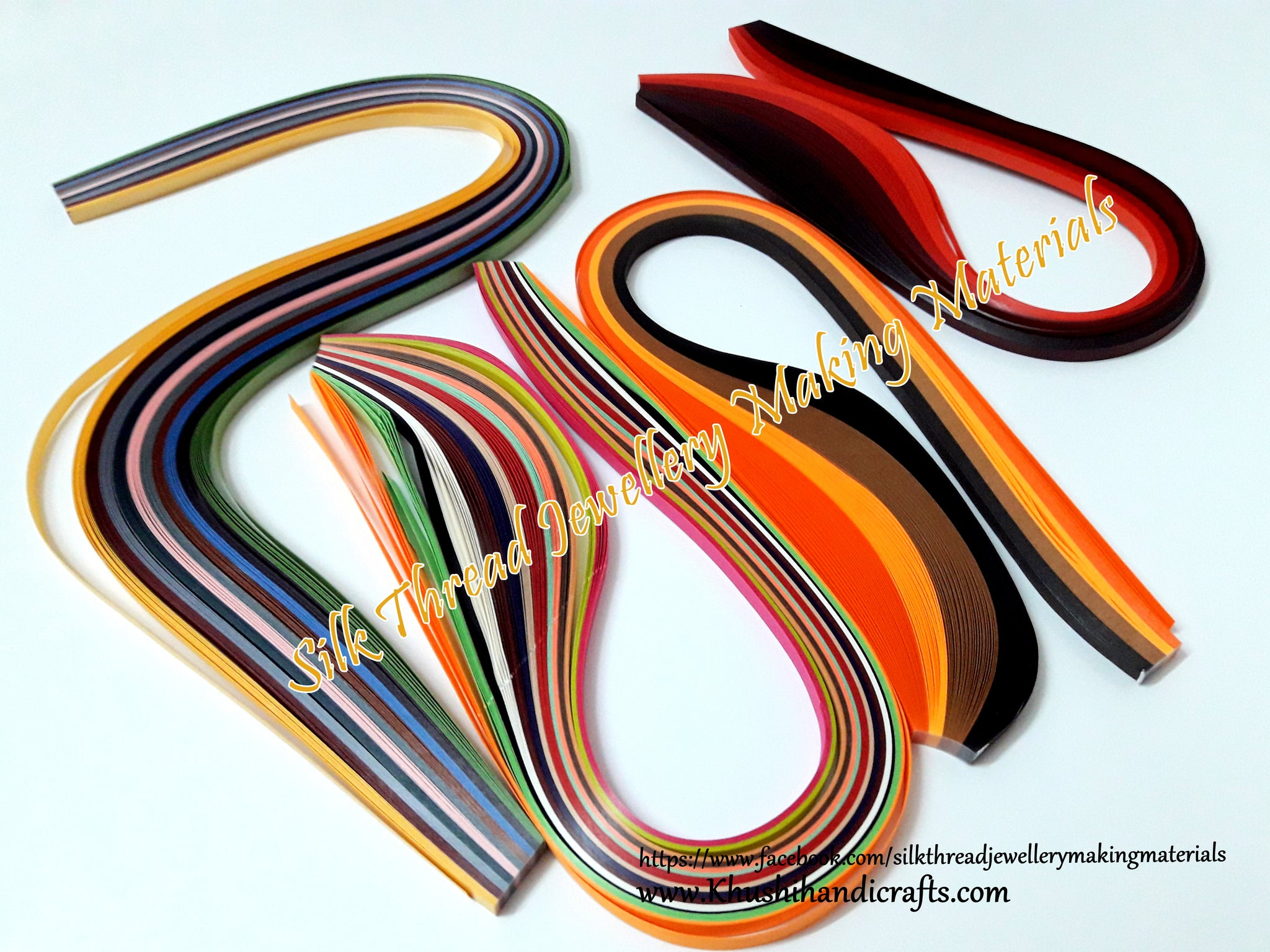 Multi color Quilling strips 5 mm Combo 7