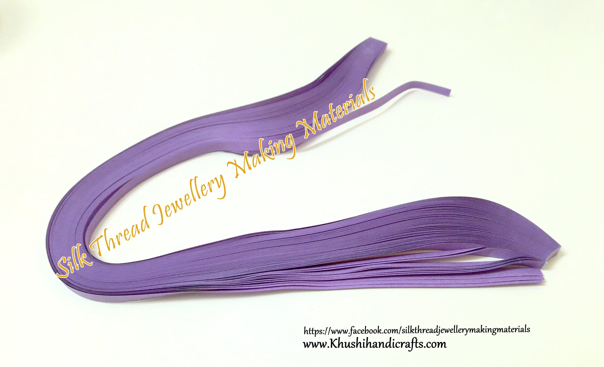 Purple Quilling Strips