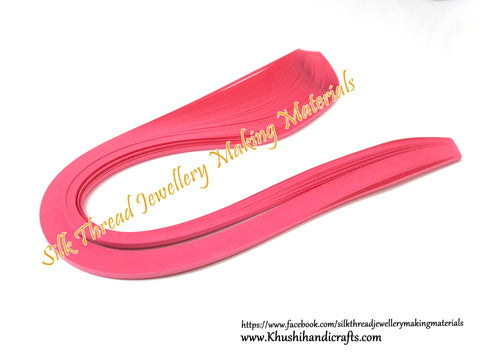 Pink Quilling Strips 3mm