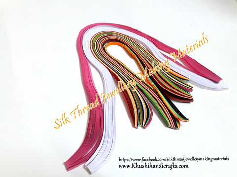 Multi color Quilling strips 5mm Combo 14-Detash Sale