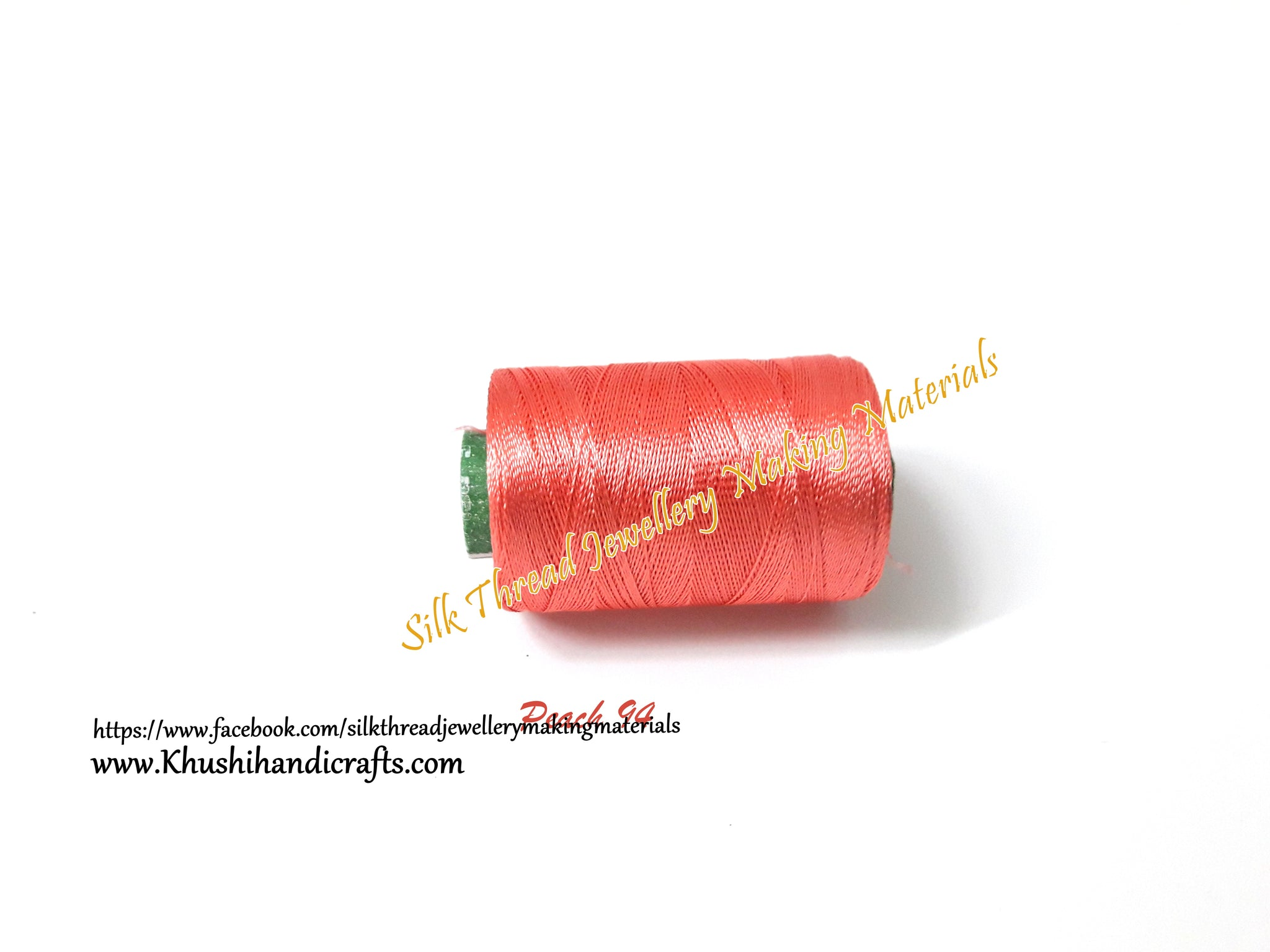 Double Bell Silk Thread Peach shade