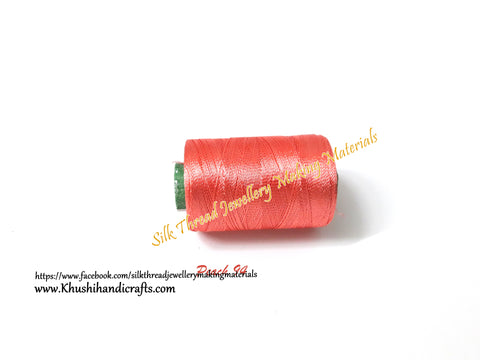 Peach shade Silk Threads Individual Spools for Bangle/Jhumkas/Jewelry Designing/Tassel Making Shade No. 94ND