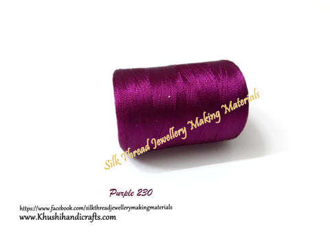 Purple Silk Threads Individual Spools for Bangle/Jhumkas/Jewelry Designing/Tassel Making Shade No. 230