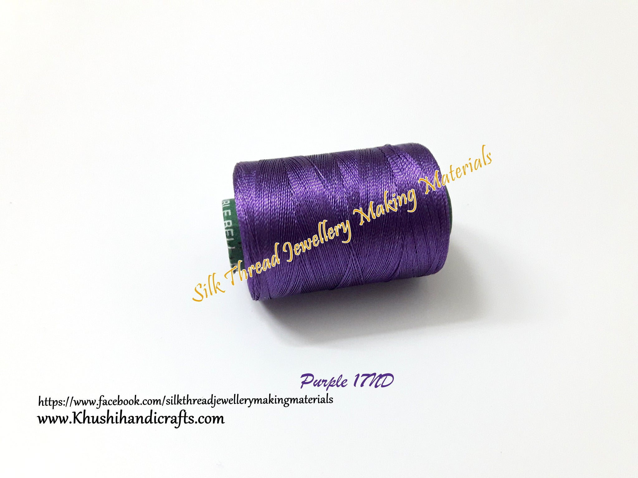 Purple Double Bell Silk spool Shade 17ND