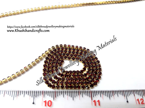 Maroon Stone Chain.Sold as a pack of 5 meters!
