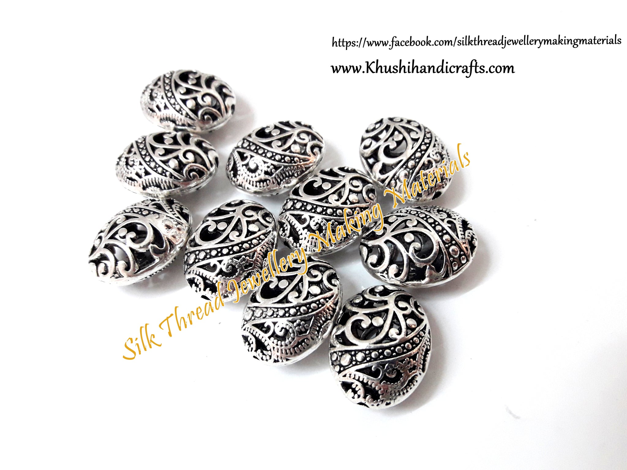 Antique Silver Designer Spacer beads