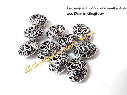 Antique Silver Designer Spacer /Connector Beads .Sold as 10 pieces -CO2