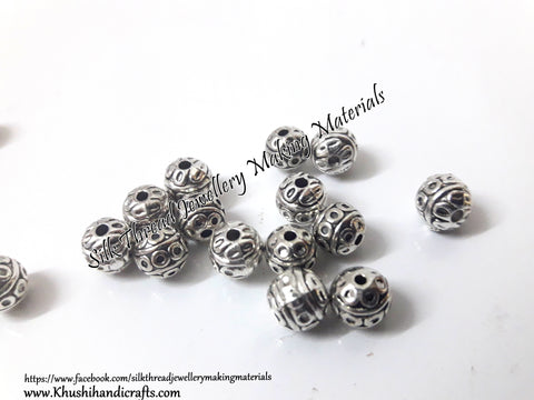 Antique silver Circular 8mm Round metal spacers. SP74 ....Sold as a set of 20 pieces!
