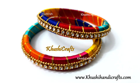 Multicolored Silk thread Bangles