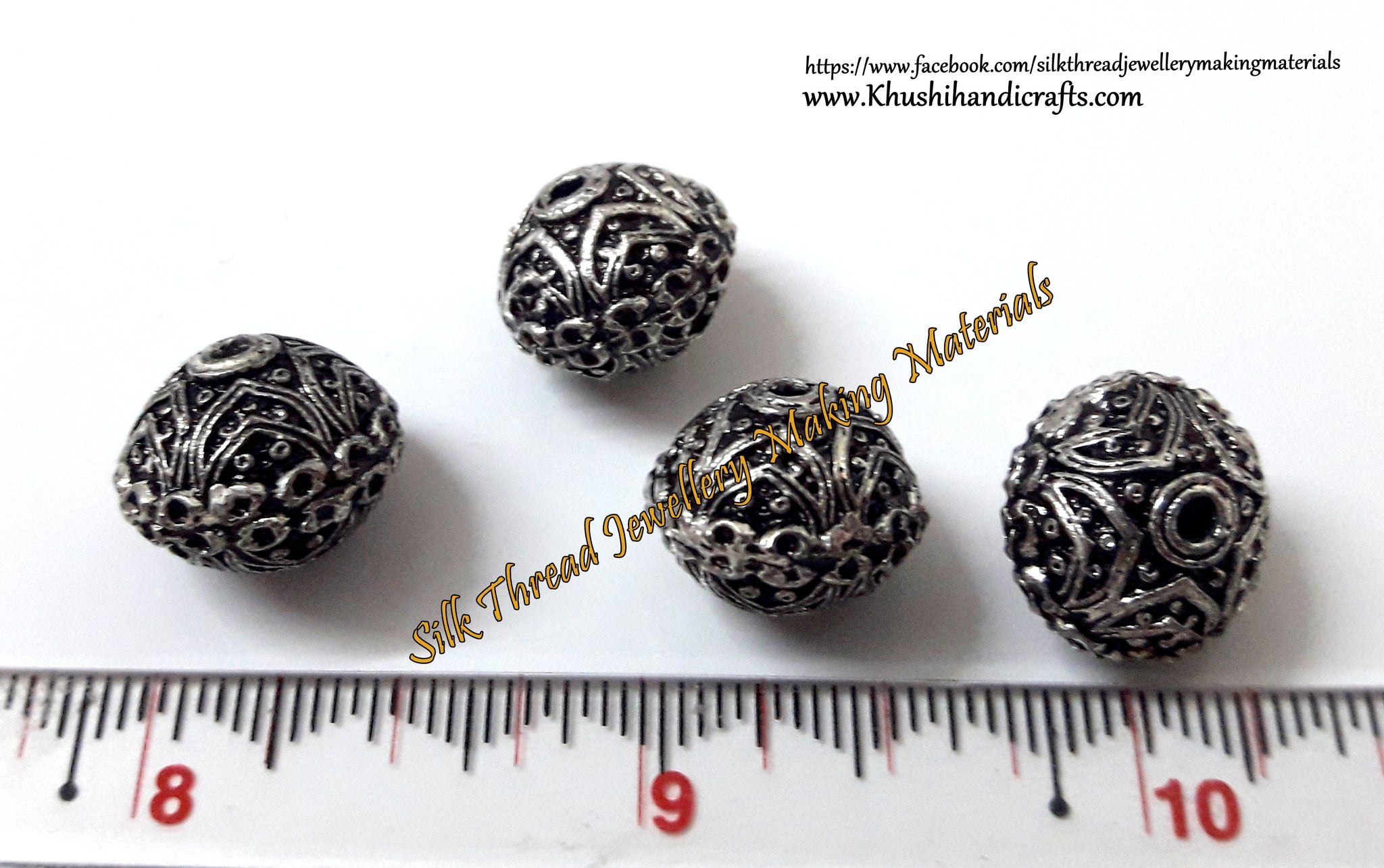 Round German Silver beads