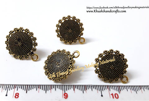 Antique Gold Big Circular Stud/studs -ST35