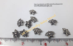 Antique Silver Lotus spacer beads.Sold as a pack of 10 pieces!