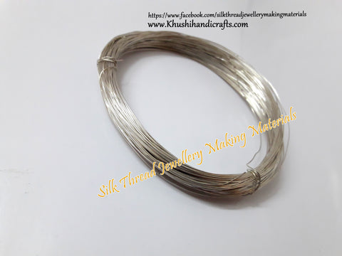 24 Gauge Wire | Craft Wire DIY For Jewellery Making & Crafts Work -Silver