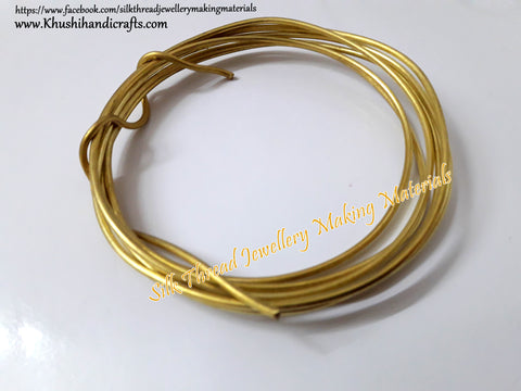 13 Gauge Wire | Craft Wire DIY For Jewellery Making & Crafts Work -Gold
