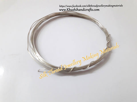22 Gauge Wire | Craft Wire DIY For Jewellery Making & Crafts Work -Silver