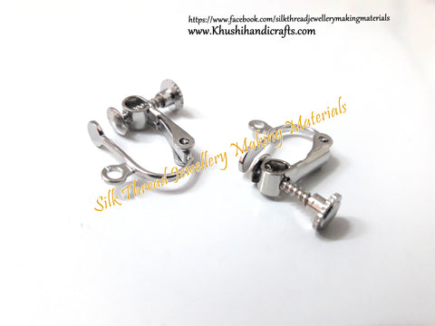 Antique Silver Non Pierced Earring clasps.Sold per pair!