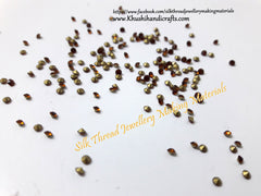 Wine Gold Rhinestones