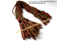 Pink Green Cotton Dori / Necklace Cord / Rope| Adjustable