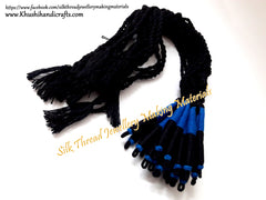 Black Blue Cotton Dori / Necklace Cord / Rope| Adjustable