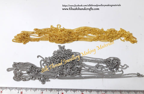 Antique Gold/Silver shaded Iron Metal chain.Sold as a pack of 5 meters!