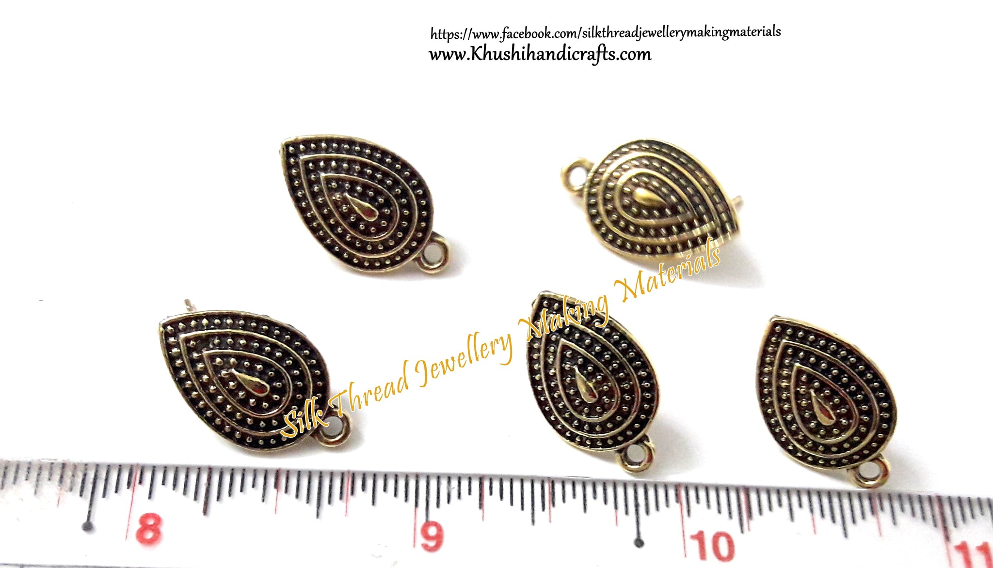 products gold antique firozi jewellery traditional earrings stud by punjabi