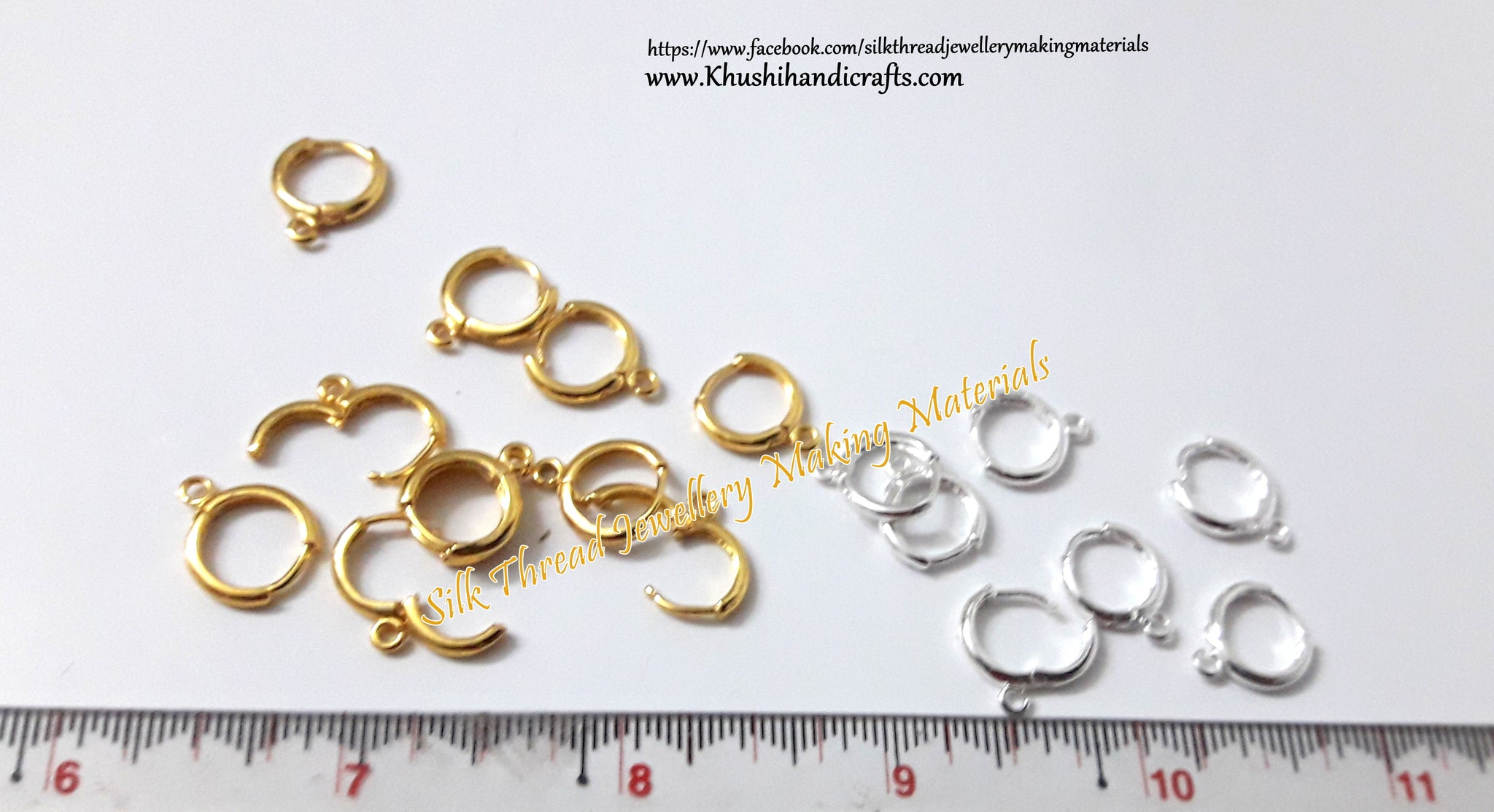 Circular Lever Back Earring Hooks in Gold.Sold per pair! - Khushi Handmade Jewellery