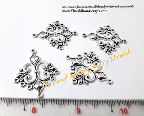 Antique Silver Designer Earring Connector.Sold per pair  -SP23