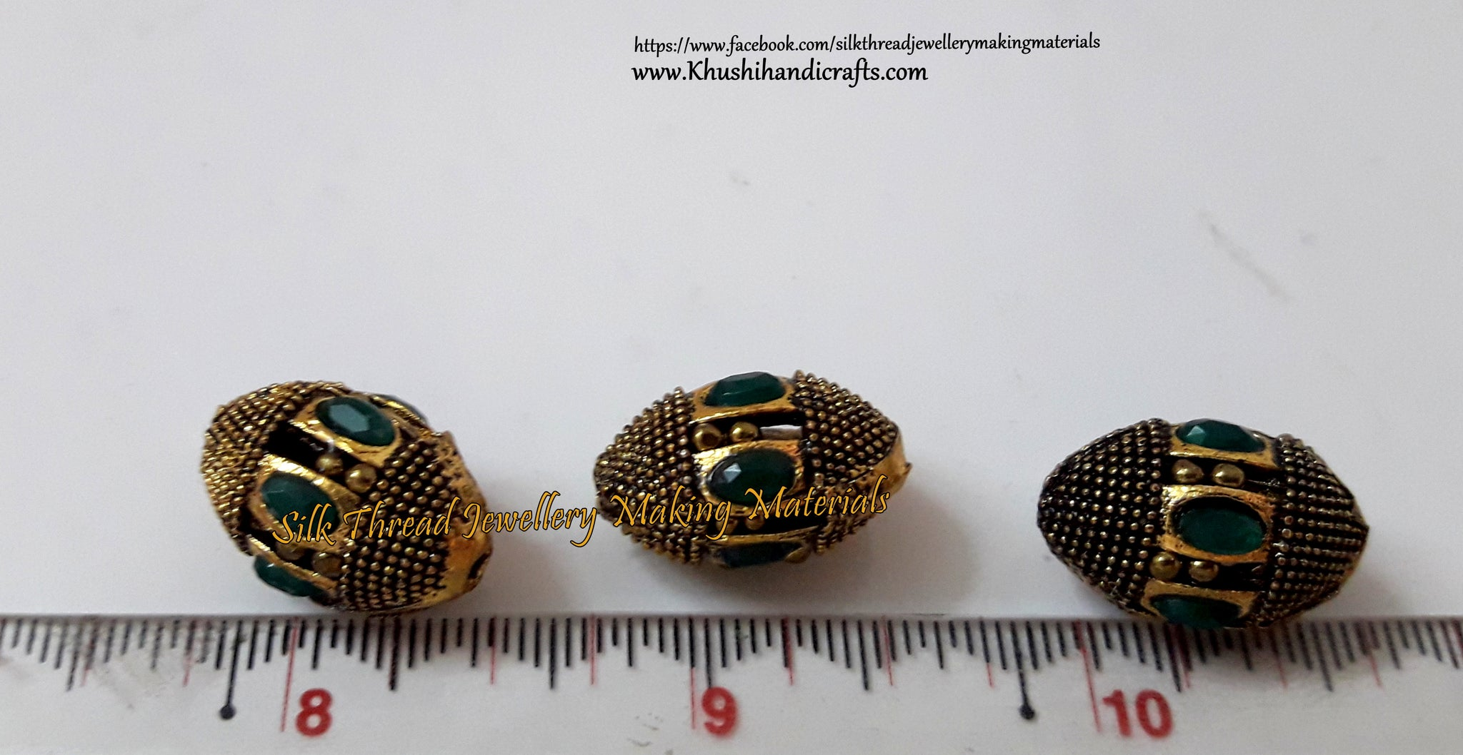 Oval Victorian Beads