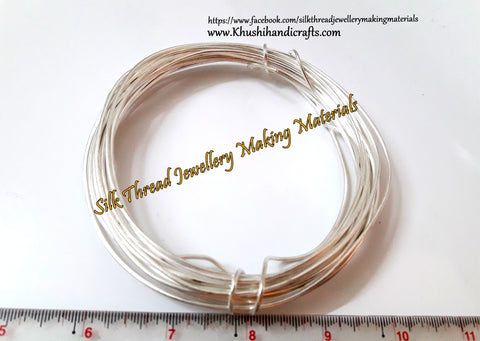 16 Gauge Wire | Craft Wire DIY For Jewellery Making & Crafts Work -Silver