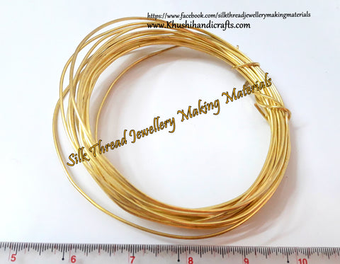 16 Gauge Wire | Craft Wire DIY For Jewellery Making & Crafts Work -Gold