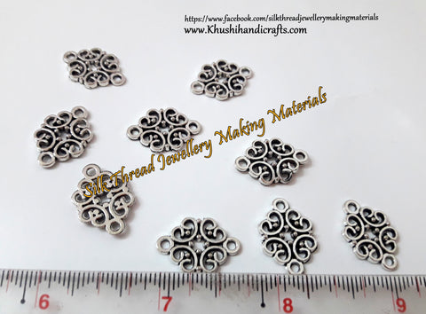 Antique Silver Heart Spacers.Sold per pair! SP20-1