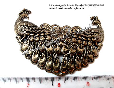 Antique Silver /Gold Peacock Pendant charms pattern 2.Sold per piece! P041