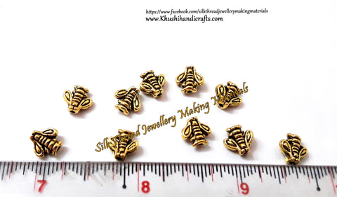 Antique Gold Angel metal spacers Beads.Sold as a set of 10 pieces!- SP71