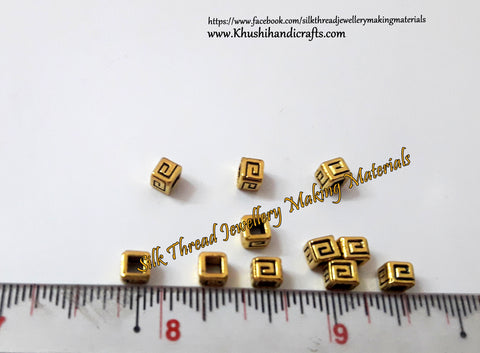 Antique Gold Square metal spacers Beads.Sold as a set of 20 pieces!- SP70