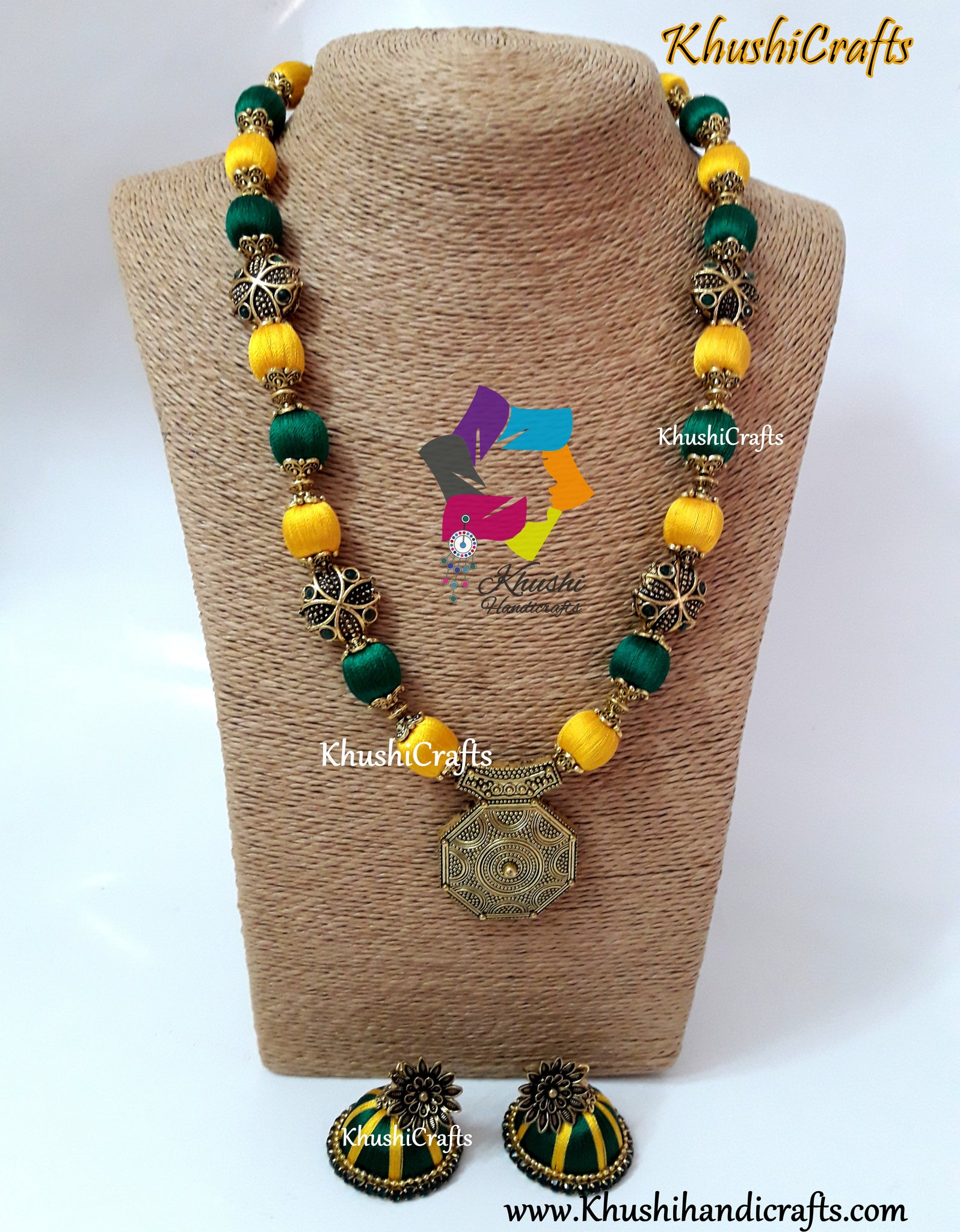 Green Silk Thread Jewellery