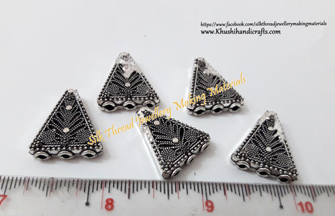 Antique Silver Triangular 3 hole Connector / Connectors charms.Sold per piece! -CO10
