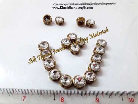Kundan stones /Kundans - Round Shaped for Embroidery and Traditional Jewellery