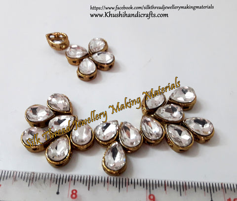 Kundan stones /Kundans - Tilak Shaped for Embroidery and Traditional Jewellery