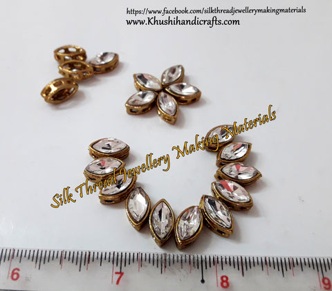 Kundan stones /Kundans - Eye Shaped for Embroidery and Traditional Jewellery